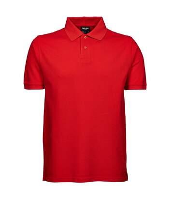 Tee Jays Mens Heavy Pique Short Sleeve Polo Shirt (Red) - UTBC3301