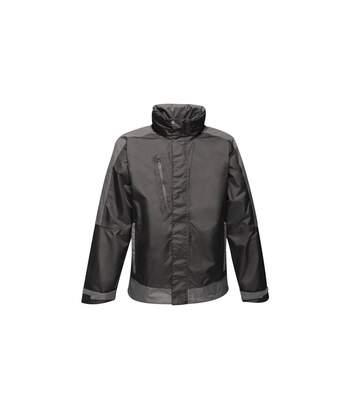 Regatta Mens Contrast Waterproof Shell Jacket (Black/Classic Red) - UTRG4073