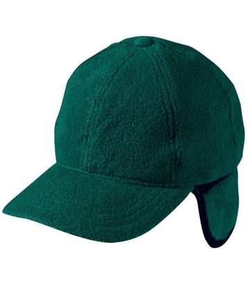 Casquette avec cache-oreilles - MB7510 - vert foncé