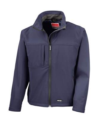 Result Mens Softshell Premium 3 Layer Performance Jacket (Waterproof, Windproof & Breathable) (Navy Blue) - UTBC2046