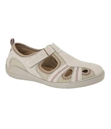 Boulevard - Chaussures en cuir et textile - Femme (Gris) - UTDF1604