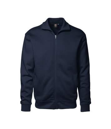 Id - Sweat À Col Haut Et Fermeture Zippée (Coupe Régulière) - Homme (Bleu marine) - UTID192