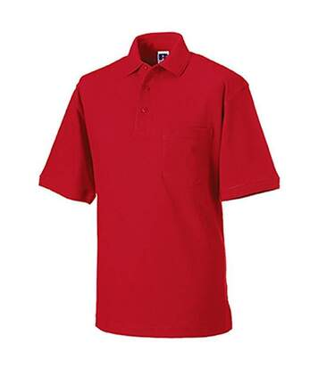 Russell Mens 100% Cotton Short Sleeve Polo Shirt (Classic Red) - UTBC567