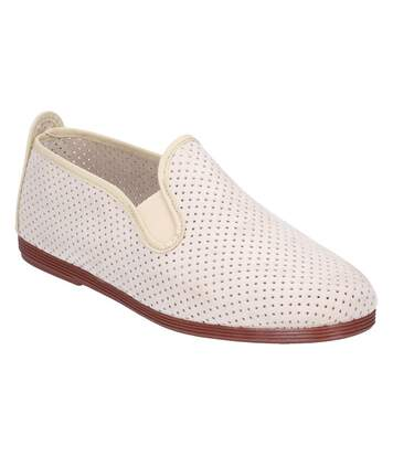 Flossy Womens/Ladies Pulga Slip On Shoe (Beige) - UTFS6251