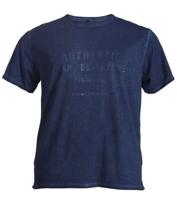 Tee shirt manches courtes marine
