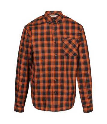 Regatta Great Outdoors Mens Lazare Long Sleeve Checked Shirt (Burnt Umber/Black) - UTRG4716