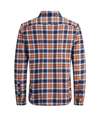 Chemise Carreaux Bleu Orange Homme Jack&Jones Washington
