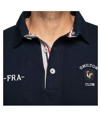Polo rugby France coq manches longues