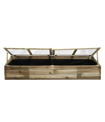 Serre double chassis en bois Florence en pin sylvestre traité autoclave classe III