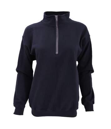 Gildan - Sweatshirt Vintage À Fermeture Zippée - Femme (Bleu marine) - UTBC1408
