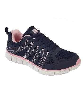 Dek Womens/Ladies Mazey Trainers (Navy/Soft Pink) - UTDF2056