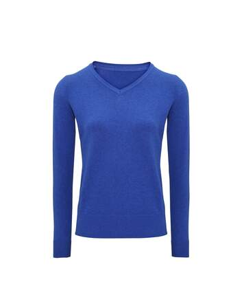 Asquith And Fox Womens/Ladies V-Neck Sweater (Royal Heather) - UTRW6003