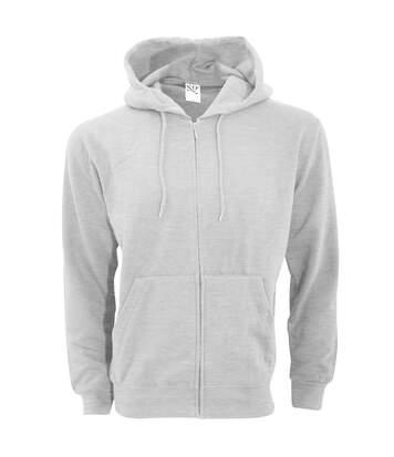 Sg - Sweatshirt Uni À Capuche Et Fermeture Zippée - Homme (Gris clair) - UTBC1075