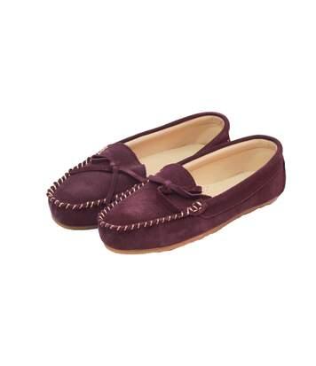 Eastern Counties Leather Womens/Ladies Suede Moccasins (Mink) - UTEL161