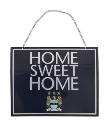 Manchester City Fc - Plaque Officielle Home Sweet Home (Bleu) - UTSG6232