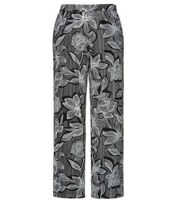 Pantalon Marléne, MARY, rayures fines, imprimé fleurs