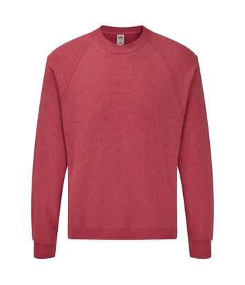 Fruit Of The Loom Mens Raglan Sleeve Belcoro® Sweatshirt (Heather Red) - UTBC368