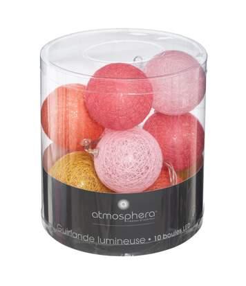 Atmosphera - Guirlande 10 boules LED D6 cm bohemian dream