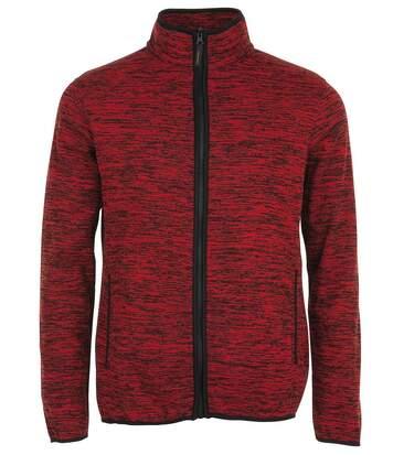 Veste tricot polaire unisexe- 01652 - rouge