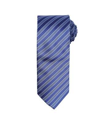 Premier - Cravate Rayée - Homme (Bleu marine/Bleu) - UTRW5235