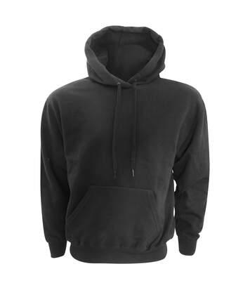 Fruit Of The Loom Unisex Unique College Hooded Sweatshirt / Hoodie (Black) - UTRW3151