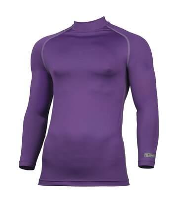 Rhino Mens Thermal Underwear Long Sleeve Base Layer Vest Top (Navy Heather) - UTRW1276