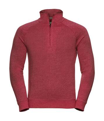 Russell Mens HD 1/4 Zip Sweatshirt (Red Marl) - UTRW5503