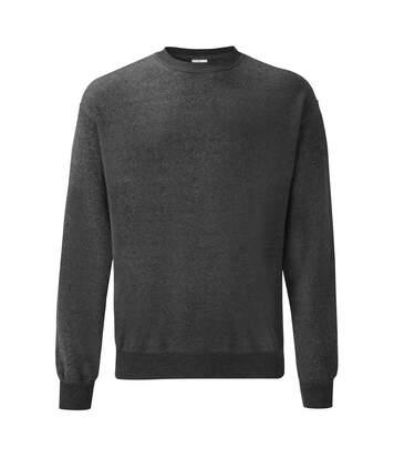 Fruit Of The Loom Mens Set-In Belcoro® Yarn Sweatshirt (Dark Heather) - UTBC365