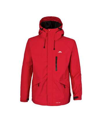 Trespass Mens Corvo Hooded Full Zip Waterproof Jacket/Coat (Red) - UTTP296