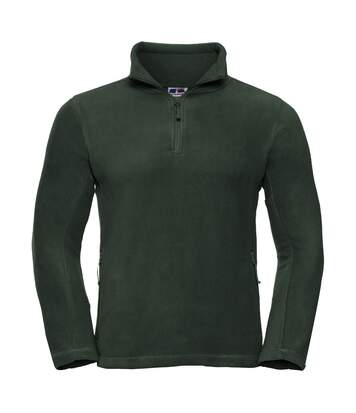 Russell Mens 1/4 Zip Outdoor Fleece Top (Bottle Green) - UTBC1438