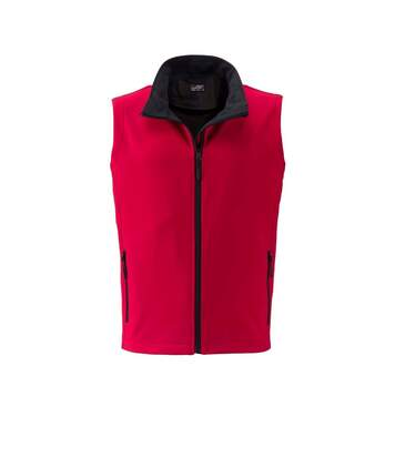 Gilet sans manches micropolaire softshell - JN1128 - rouge - Homme