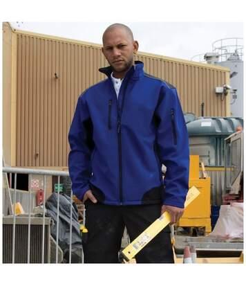 Result Mens Ripstop Soft Shell Breathable Jacket (Navy/Black) - UTBC860