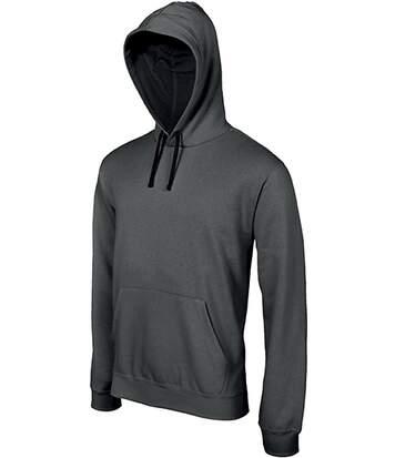 Sweat-shirt à capuche contrastée