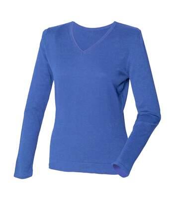 Henbury - Pull à col en V - Femme (Bleu roi) - UTRW660