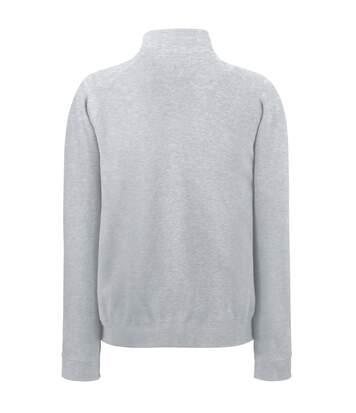 Fruit Of The Loom Mens Sweatshirt Jacket (Heather Grey) - UTBC1375