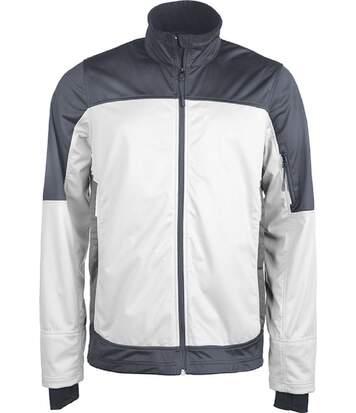 Veste softshell bicolore - K415 - blanc - homme