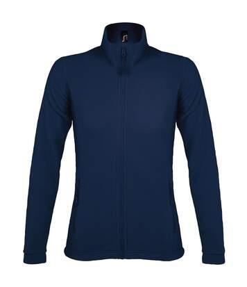 Veste micropolaire zippée femme - 00587 - bleu marine