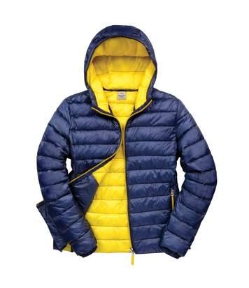 Result Urban Mens Snowbird Hooded Jacket (Navy/Yellow) - UTBC3255