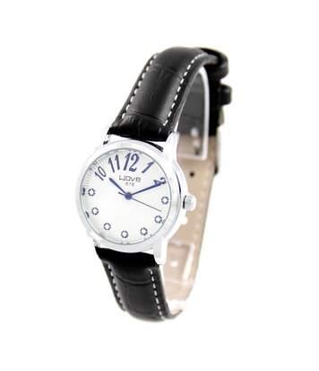 Montre Femme WAVE bracelet Cuir Noir
