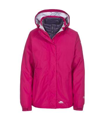 Trespass Womens/Ladies Trailwind Waterproof 3-In-1 Jacket (Cerise) - UTTP3520