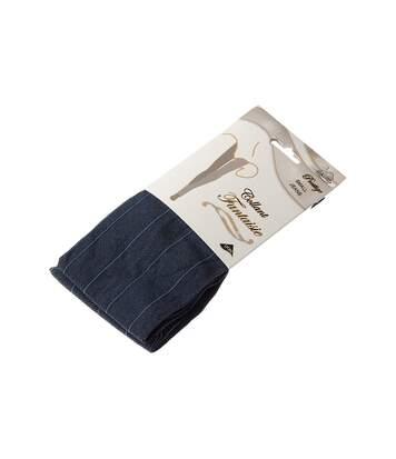 Collant chaud - 1 paire - Fantaisie - Ultra opaque - Mat - Coutures plates - Gousset coton - Couture - Bleu - Prestige