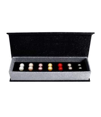 Coffret boucles d'oreilles 7 Days Colorful Pearl