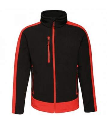 Regatta Mens Contrast Fleece Jacket (Black/Classic Red) - UTRG3568