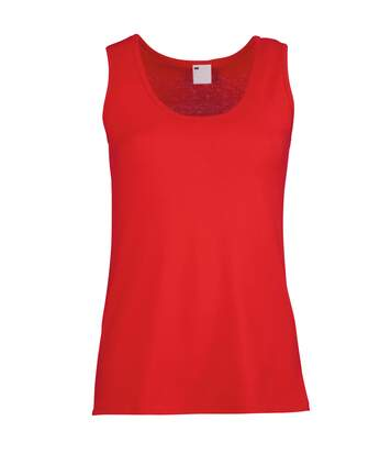 Womens/Ladies Value Fitted Sleeveless Vest (Classic Red) - UTBC3909