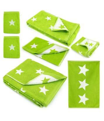 Parure de bain 7 pièces 100% coton 480 g/m2 STARS Vert