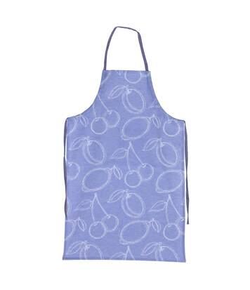 Tablier de cuisine 60x90 cm toile 100% coton LINE Bleu