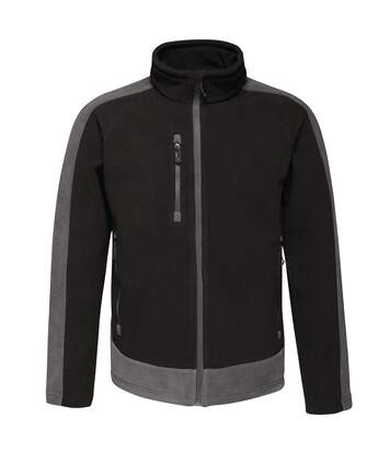 Regatta Contrast Mens 300 Fleece Top/Jacket (Black/Seal) - UTRW6352