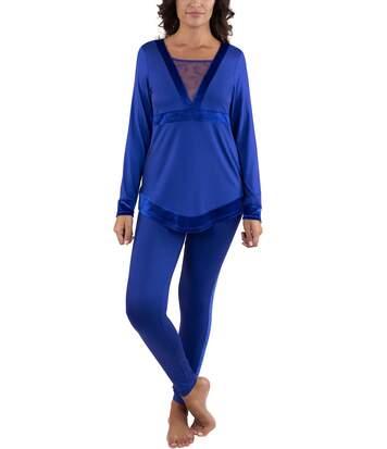 Tenue d'intérieur pyjama legging Royal Wish Lisca bleu