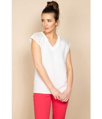 T-shirt avec détails ajourés VAL Off White