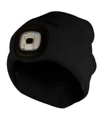 Mens Winter Knit Beanie Hat with LED Glowing Light